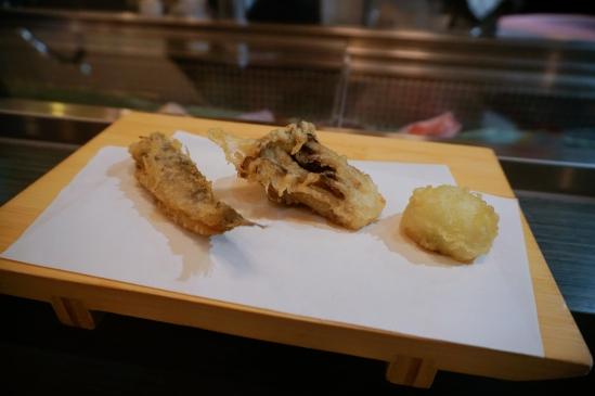舞茸菇 小鯛魚 洋蔥